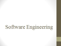 Software Engineering Detail course information