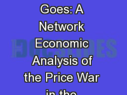 To Whom the Revenue Goes: A Network Economic Analysis of the Price War in the Wireless Telecommunic