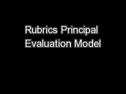 Rubrics Principal Evaluation Model PowerPoint PPT Presentation