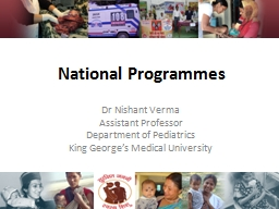 National Programmes Dr  Nishant