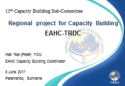 15 th  Capacity Building Sub-Committee