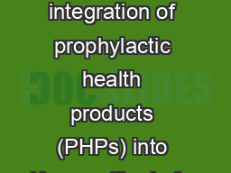 Evaluating the potential integration of prophylactic health products (PHPs) into Kenyan tilapia far