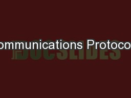 Communications Protocols: