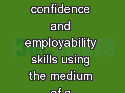 Developing  aspiration, confidence and employability skills using the medium of a professional ment