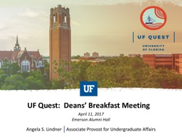 UF Quest:  Deans' Breakfast Meeting