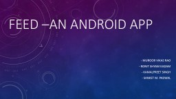 Feed �An android app  -
