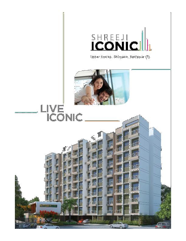 1 BHK flats in Badlapur, Flats near Badlapur station, Shreeji Iconic-5pgroup