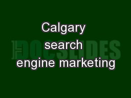Calgary search engine marketing