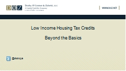 Low Income Housing Tax Credits