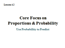 Use Probability to Predict