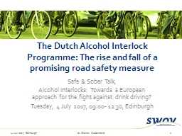 The Dutch Alcohol Interlock