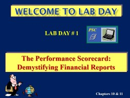 Welcome to Class  12 The Performance Scorecard         &