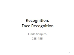 Recognition: Face Recognition PowerPoint PPT Presentation