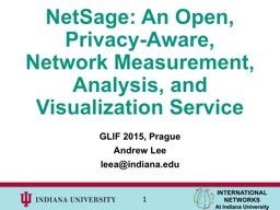 NetSage : An Open, Privacy-Aware, Network Measurement, Analysis, and Visualization Service