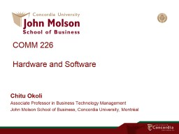 COMM 226 Modeling business processes with
