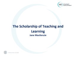 The Scholarship of Teaching and Learning: an intro