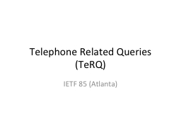 Telephone Related Queries (
