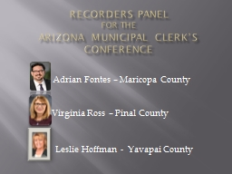 Recorders Panel  for the