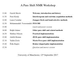 A Pure Shift NMR Workshop PowerPoint PPT Presentation