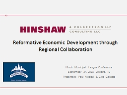 Reformative Economic Development through Regional Collaboration