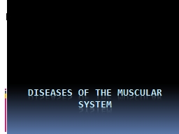 Diseases of the Muscular System PowerPoint PPT Presentation