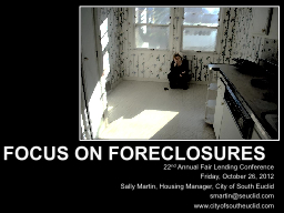 Focus on Foreclosures 22