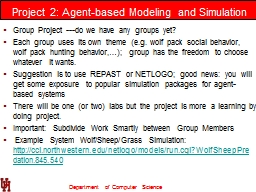 Project 2: Agent-based Modeling and Simulation