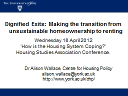 Dignified Exits: Making the transition from unsustainable homeownership to renting