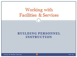 Building Personnel Instruction