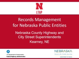 Records Management for Nebraska Public Entities