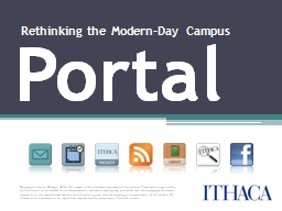Portal Rethinking the Modern-Day Campus PowerPoint PPT Presentation