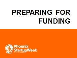 Preparing for Funding Michael D. Hool