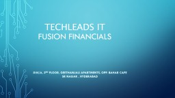 TECHLEADS IT fusion financials