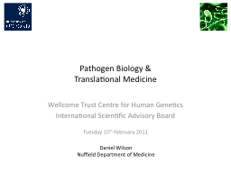 Pathogen Biology & Translational Medicine