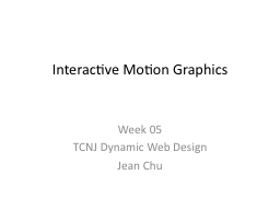Interactive Motion Graphics
