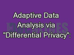 Adaptive Data Analysis via