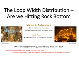 The Loop Width Distribution PowerPoint PPT Presentation