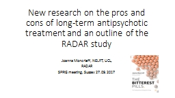 New  research  on the pros and cons of