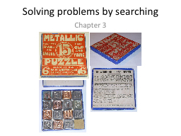 Solving problems by searching