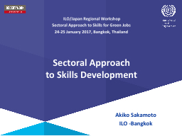Sectoral  Approach  to Skills