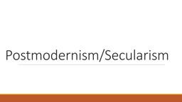 Postmodernism/Secularism