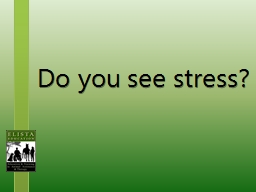 Do you see  s tress? PowerPoint PPT Presentation