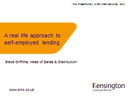 A real life approach to self-employed lending