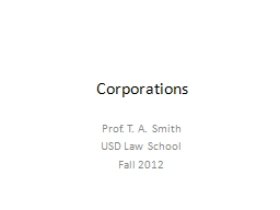 Corporations Prof.  T.  A. Smith