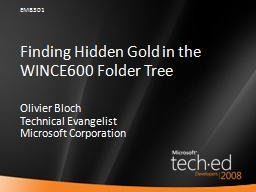 Finding Hidden Gold in the WINCE600 Folder Tree