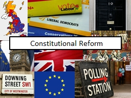 Constitutional Reform Learning Objectives
