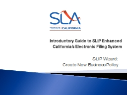 Introductory Guide to  SLIP Enhanced
