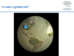 Is  water  a global  risk?