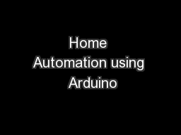 Home Automation using  Arduino