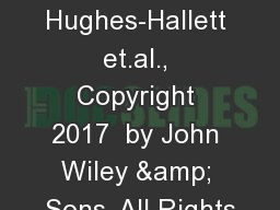 Calculus, 7th edition, Hughes-Hallett et.al., Copyright 2017  by John Wiley & Sons, All Rights
